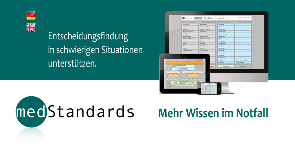 medStandards: Decision making in emergency situations